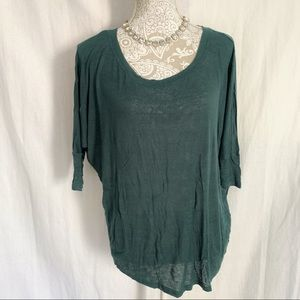 Daydreamer LA // Green Lightweight Slouchy LS Top
